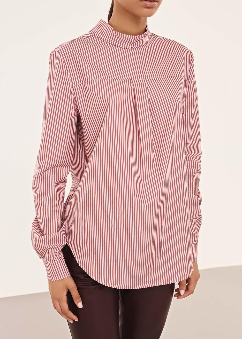 Striped Reversed Button Down Shirt - Alexander Lewis