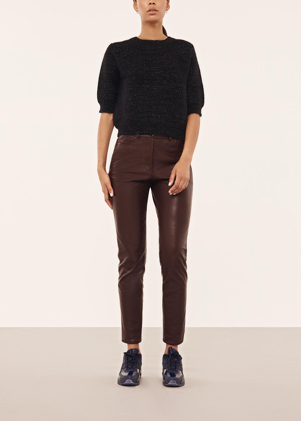 Black Short Sleeved Knit Jumper - Alexander Lewis