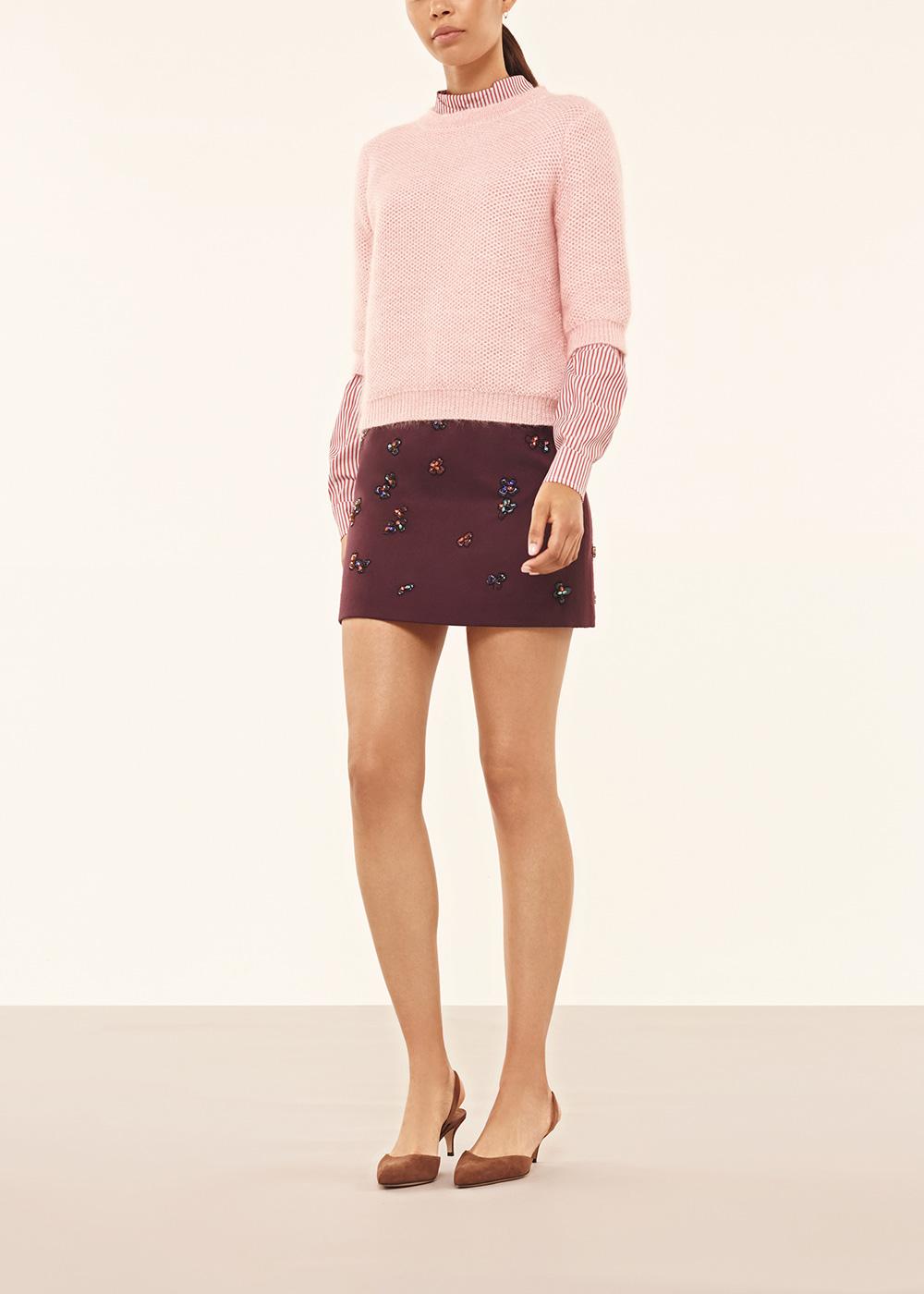 Pink Short Sleeved Knit Jumper - Alexander Lewis