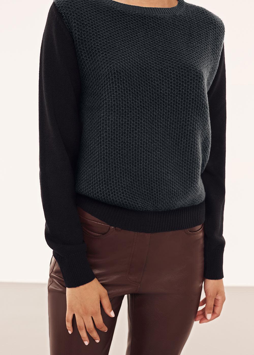 Cashmere colour blocked crewneck sweater - Alexander Lewis